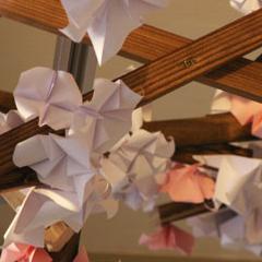 Photo : Cerisiers en fleurs de papier