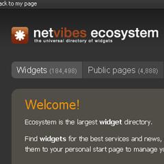 Photo : Netvibes Theme Designer