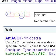 Photo : Google ascii art