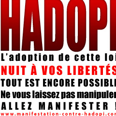 Photo : Manifestation contre HADOPI