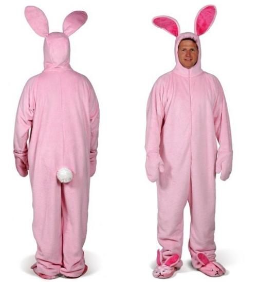 pyjama lapin rose un pyjama rose ridicule avec des oreilles de lapin. Black Bedroom Furniture Sets. Home Design Ideas