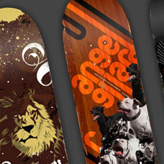 Photo : Design : 40 graphismes sur skateboard