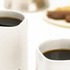 Photo : Tasse + biscuits + café = miam !