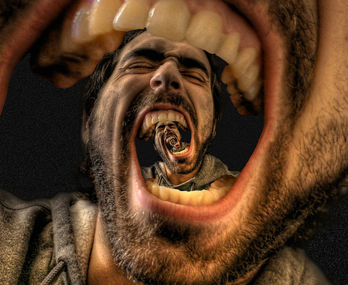 Mise en abyme le cri for Image miroir photoshop