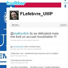 Photo : @FLefebvre_UMP Frederic Lefebvre