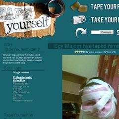 Photo : TapeYourself.com : un site scotchant !