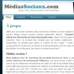 Photo : Mediassociaux.com un blog sur ... les médias sociaux !