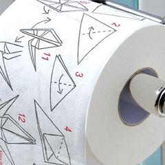 Photo : Papier toilette Origami