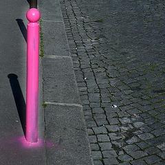 Photo : J'ai découvert le poteau rose