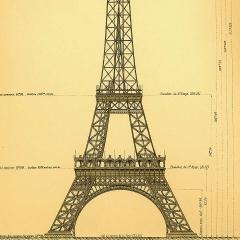 Photo : Plans de la Tour Eiffel