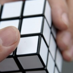 Photo : Rubik's cube blanc
