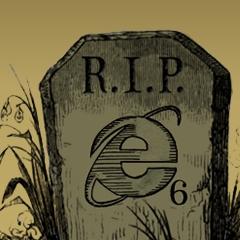 Photo : Funérailles d'Internet Explorer 6