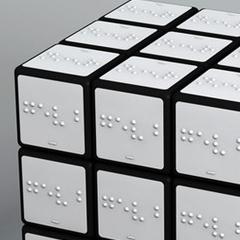 Photo : Rubik's Cube en braille