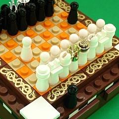 Photo : Échiquier en Lego