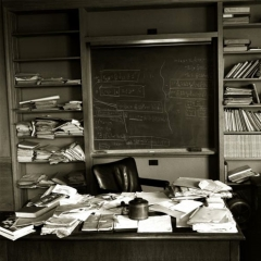 Photo : Einstein : son bureau