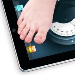 Photo : iPad pèse-personne