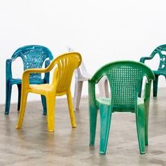 Photo : Chaises en porcelaine