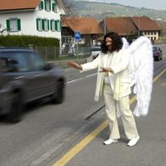 Photo : Ange de la route