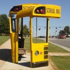 Photo : Abribus en bus