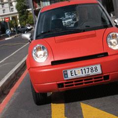 Photo : Think voiture électrique