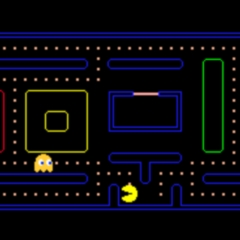 Photo : Jouer à Pac-Man sur Google