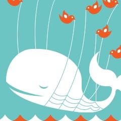 Photo : Baleine Twitter Fail Whale en CSS