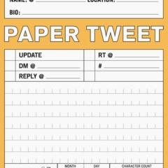 Photo : Tweets en papier