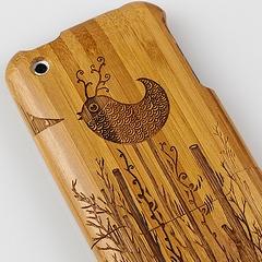Photo : Coque iPhone en bambou
