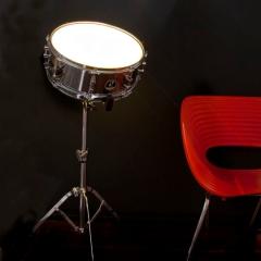 Photo : Lampe tambour