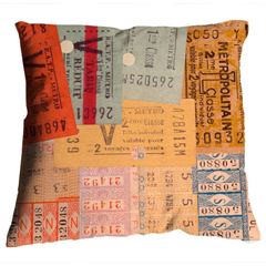 "image Coussin ""Tickets"""