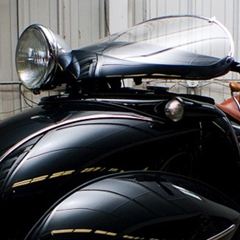 Photo : Moto art déco Henderson 1930 custom
