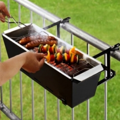 Photo : Barbecue sur le balcon