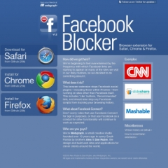 Photo : Facebook Blocker : éradiquer Facebook du web