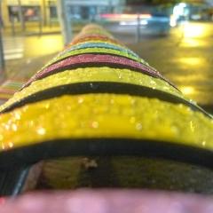 Photo : Banc multicolore