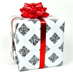 Photo : QR codes : papier cadeau geek !