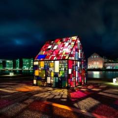 Photo : Maison en vitraux