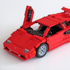 Photo : Lamborghini + Transformers en Lego