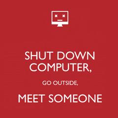 Photo : Eteignez l'ordinateur ...