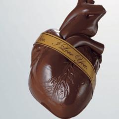 Photo : Coeur en chocolat