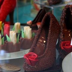 Photo : Chaussures en chocolat