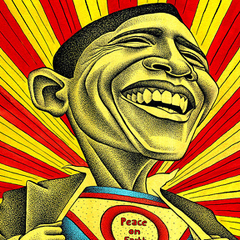 Obama superman by Ben Heine