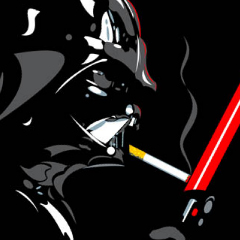 Photo : Dark Vador fumeur