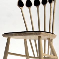 Photo : Chaise cuillers en bois