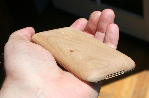 iPhone de bois : fini