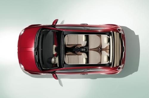 Fiat 500 c photos du cabriolet fiat 500 - Voiture vue de haut ...