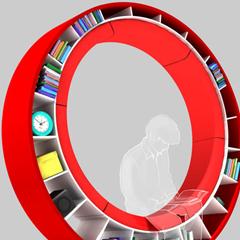 Photo : Bibliothèque circulaire