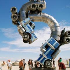 Photo : Sculpture camions Big Rig Jig