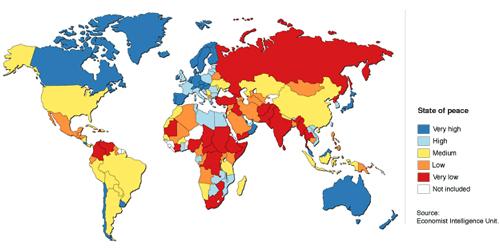 La liste des premiers pays où la paix est au top pour cette année