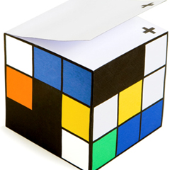 Photo : Bloc-notes Rubik's cube