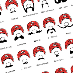 Photo : Les moustaches de Mario